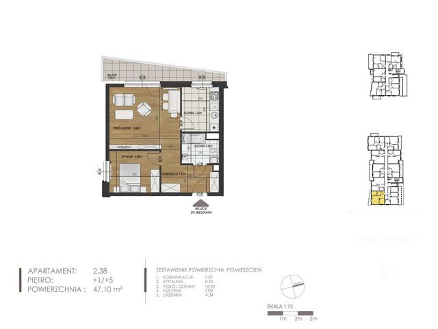 Mieszkanie w inwestycji Mokra 10, budynek Budynek A, symbol 2 » nportal.pl