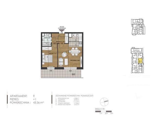 Mieszkanie w inwestycji Mokra 10, budynek Budynek A, symbol 9 » nportal.pl