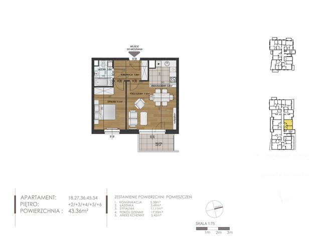 Mieszkanie w inwestycji Mokra 10, budynek Budynek A, symbol 27 » nportal.pl