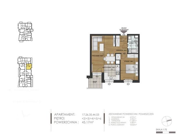 Mieszkanie w inwestycji Mokra 10, budynek Budynek A, symbol 35 » nportal.pl