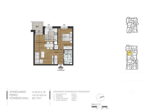 Mieszkanie w inwestycji Mokra 10, budynek Budynek A, symbol 41 » nportal.pl
