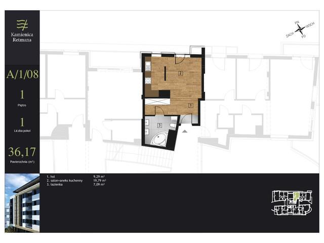 Mieszkanie w inwestycji Kamienica Retmana, symbol A.1.08 » nportal.pl