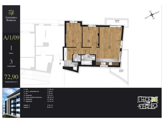 Mieszkanie w inwestycji Kamienica Retmana, symbol A.1.09 » nportal.pl