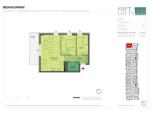 Mieszkanie w inwestycji Soft Lofty Centrum/Legnicka, budynek CENTRUM, symbol A/6/16 » nportal.pl