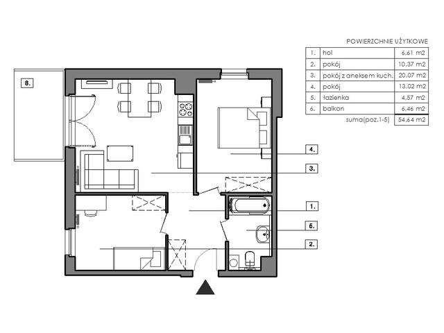 Mieszkanie w inwestycji Signum, symbol B.4.2 » nportal.pl