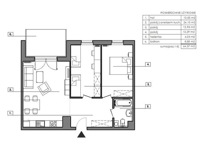 Mieszkanie w inwestycji Signum, budynek Budynek I, symbol B.8.3 » nportal.pl