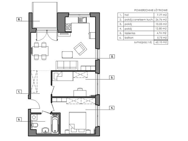 Mieszkanie w inwestycji Signum, budynek Budynek I, symbol B.8.4 » nportal.pl