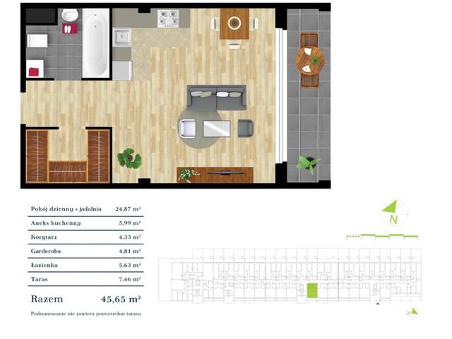 Mieszkanie w inwestycji Apartamenty Zdrowie w Łodzi, symbol K3.0.13 » nportal.pl