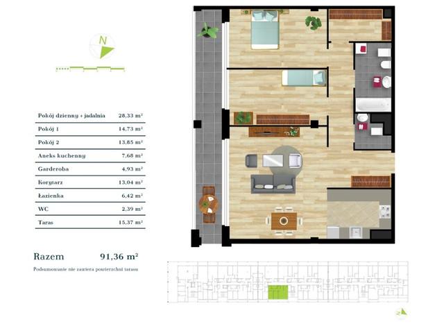 Mieszkanie w inwestycji Apartamenty Zdrowie w Łodzi, symbol K3.IV.1 » nportal.pl