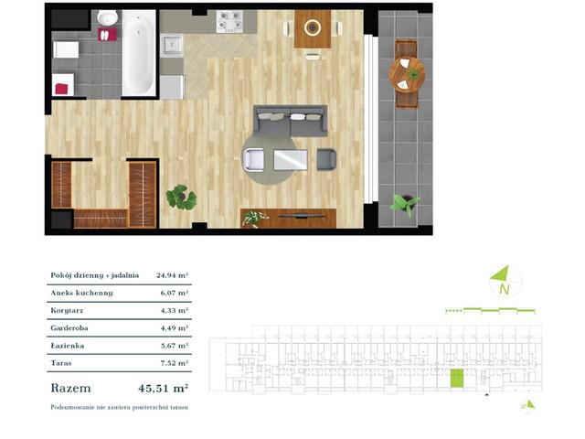 Mieszkanie w inwestycji Apartamenty Zdrowie w Łodzi, symbol K4.0.2 » nportal.pl