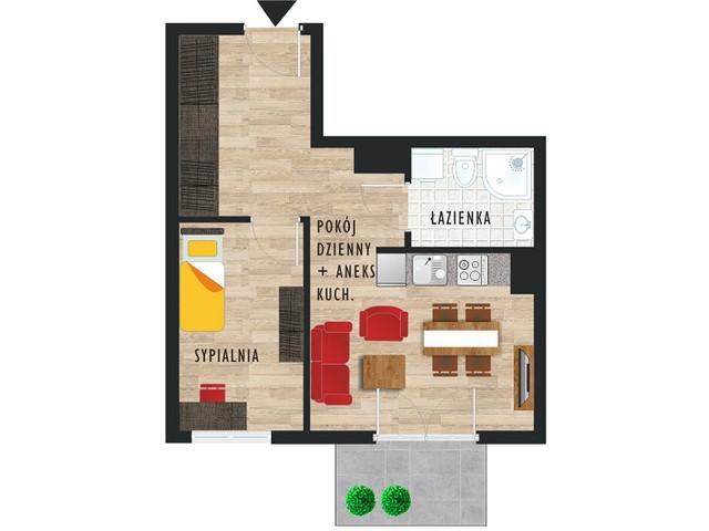 Mieszkanie w inwestycji Karoliny V, budynek Etap V, symbol 40 » nportal.pl
