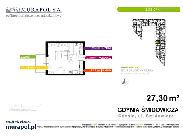 Mieszkanie w inwestycji Murapol Nadmorskie Tarasy, budynek Budynek 2, symbol 2B.2.07 » nportal.pl