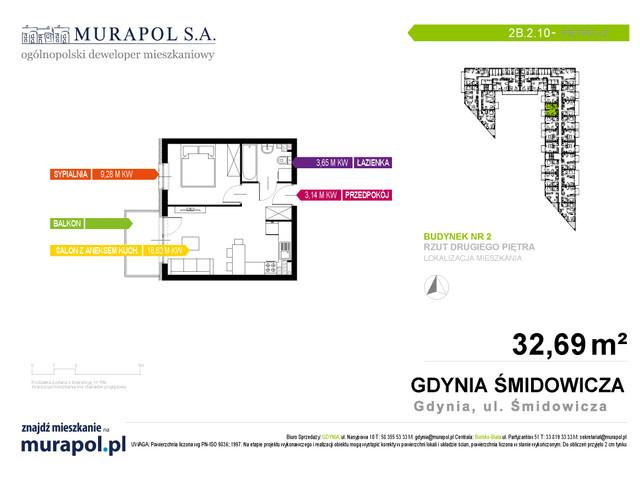 Mieszkanie w inwestycji Murapol Nadmorskie Tarasy, budynek Budynek 2, symbol 2B.2.10 » nportal.pl