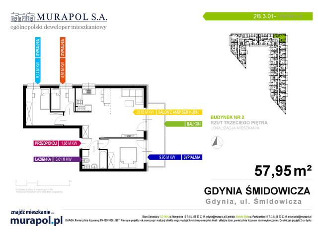 Mieszkanie w inwestycji Murapol Nadmorskie Tarasy, budynek Budynek 2, symbol 2B.3.01 » nportal.pl