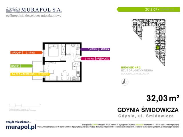 Mieszkanie w inwestycji Murapol Nadmorskie Tarasy, budynek Budynek 2, symbol 2C.2.07 » nportal.pl