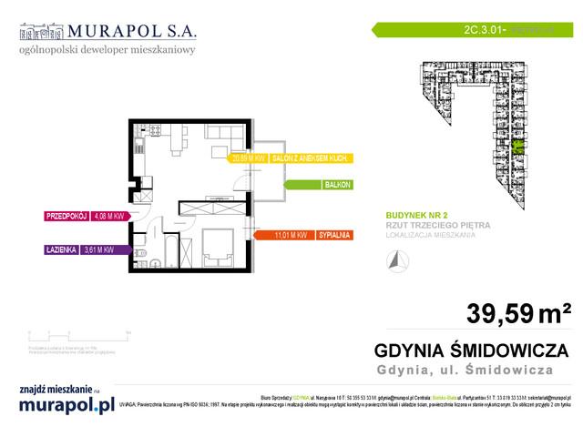 Mieszkanie w inwestycji Murapol Nadmorskie Tarasy, budynek Budynek 2, symbol 2C.3.01 » nportal.pl