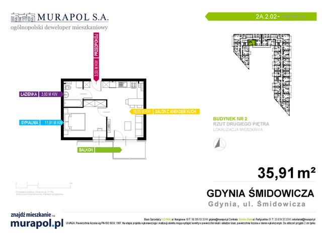 Mieszkanie w inwestycji Murapol Nadmorskie Tarasy, budynek Budynek 2, symbol 2A.2.02 » nportal.pl