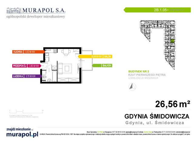 Mieszkanie w inwestycji Murapol Nadmorskie Tarasy, budynek Budynek 2, symbol 2B.1.05 » nportal.pl