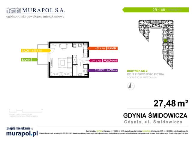 Mieszkanie w inwestycji Murapol Nadmorskie Tarasy, budynek Budynek 2, symbol 2B.1.08 » nportal.pl