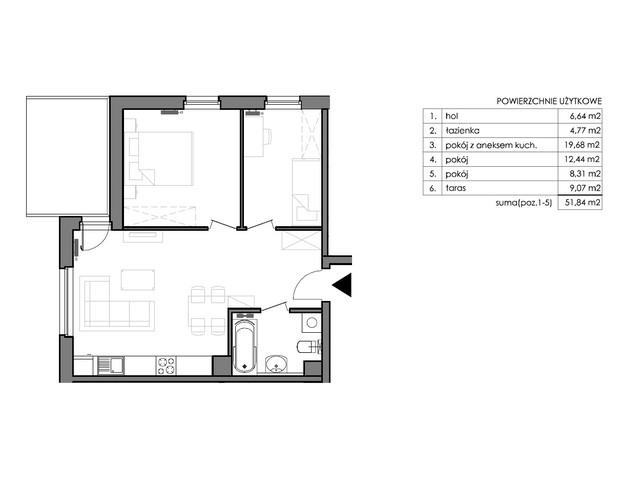 Mieszkanie w inwestycji Signum, budynek Budynek II – Stratus, symbol C.0.5 » nportal.pl