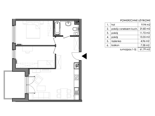 Mieszkanie w inwestycji Signum, budynek Budynek II – Stratus, symbol C.1.4 » nportal.pl