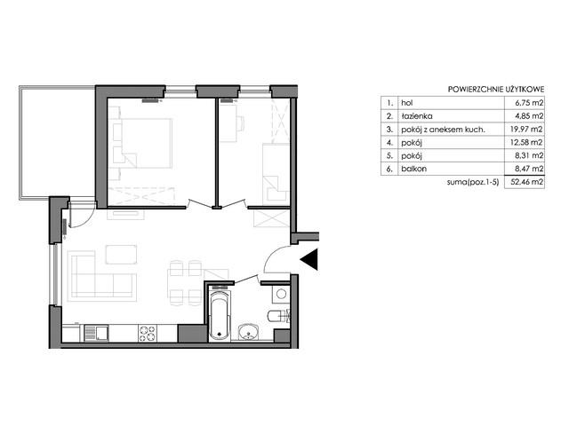 Mieszkanie w inwestycji Signum, budynek Budynek II – Stratus, symbol C.5.5 » nportal.pl