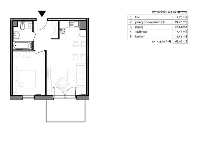 Mieszkanie w inwestycji Signum, budynek Budynek II – Stratus, symbol C.6.2 » nportal.pl