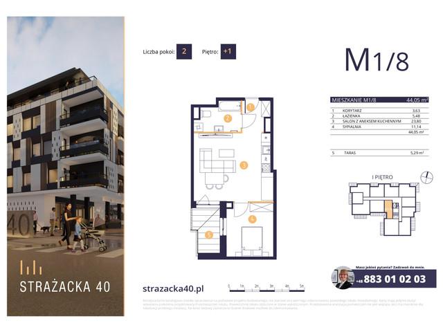 Mieszkanie w inwestycji Strażacka 40, symbol M1/8 » nportal.pl