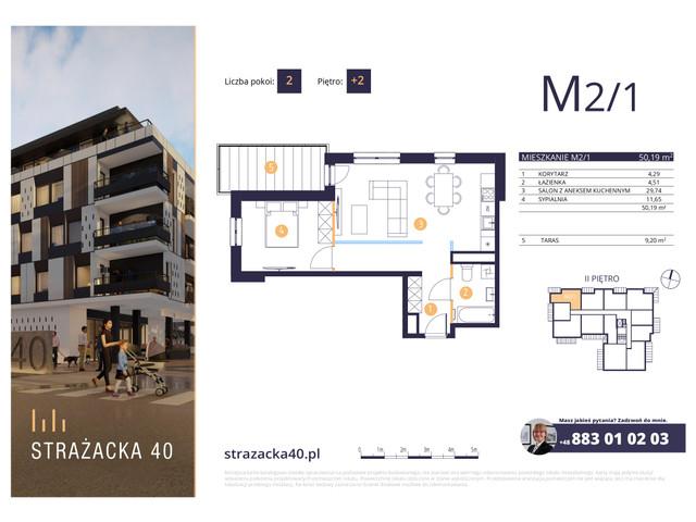 Mieszkanie w inwestycji Strażacka 40, symbol M2/1 » nportal.pl