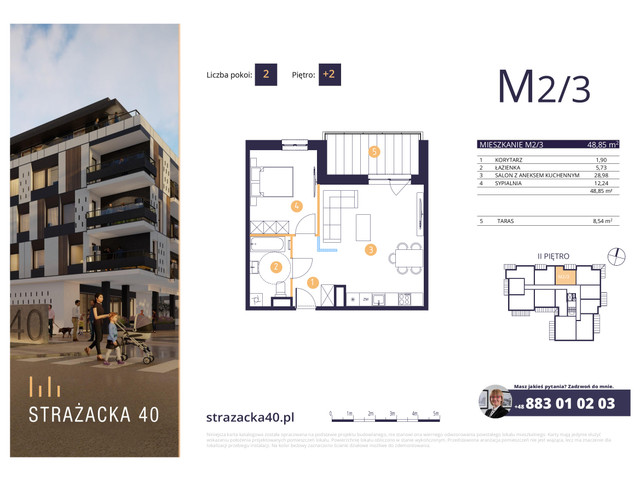 Mieszkanie w inwestycji Strażacka 40, symbol M2/3 » nportal.pl