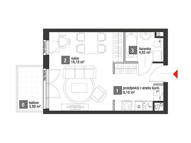 Mieszkanie w inwestycji Chabrowe Wzgórze, symbol C1.2.42 » nportal.pl
