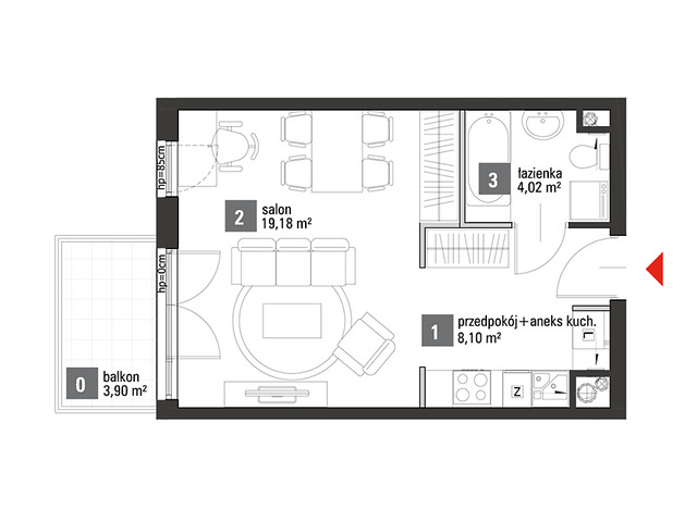 Mieszkanie w inwestycji Chabrowe Wzgórze, symbol C1.4.60 » nportal.pl