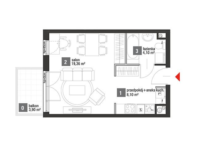 Mieszkanie w inwestycji Chabrowe Wzgórze, symbol C1.4.61 » nportal.pl