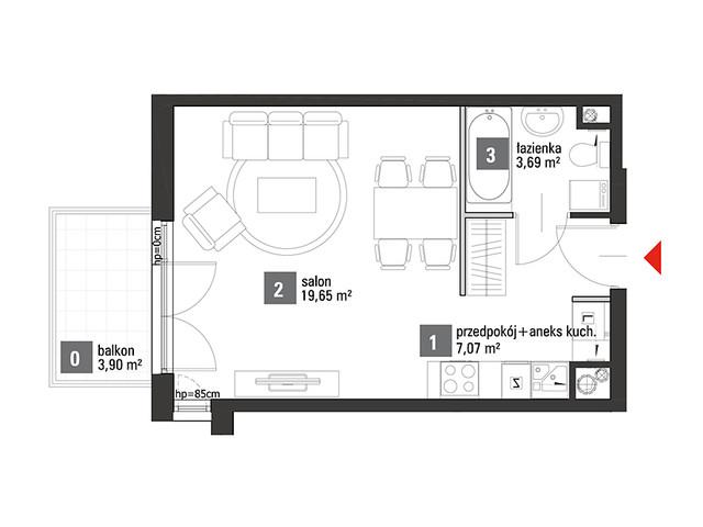 Mieszkanie w inwestycji Chabrowe Wzgórze, symbol C1.4.63 » nportal.pl