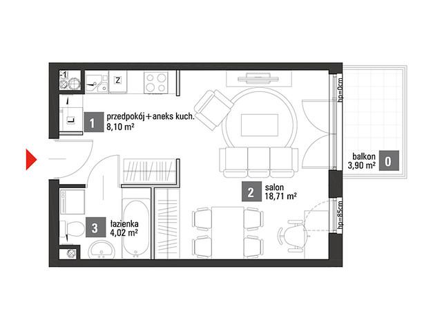 Mieszkanie w inwestycji Chabrowe Wzgórze, symbol C1.4.57 » nportal.pl