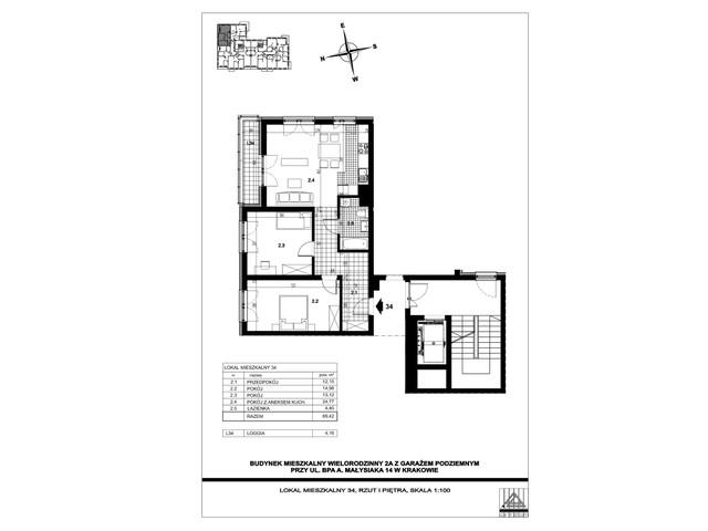 Mieszkanie w inwestycji ul. bpa A. Małysiaka, budynek 2A, symbol 2A/34 » nportal.pl