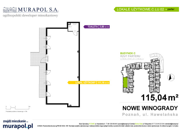 Komercyjne w inwestycji Osiedle Nowe Winogrady - lokale usług..., budynek C, symbol C.LU.02 » nportal.pl