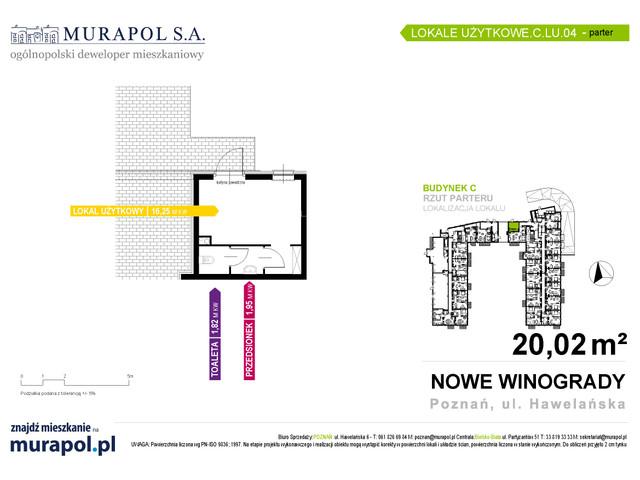 Komercyjne w inwestycji Osiedle Nowe Winogrady - lokale usług..., budynek C, symbol C.LU.04 » nportal.pl