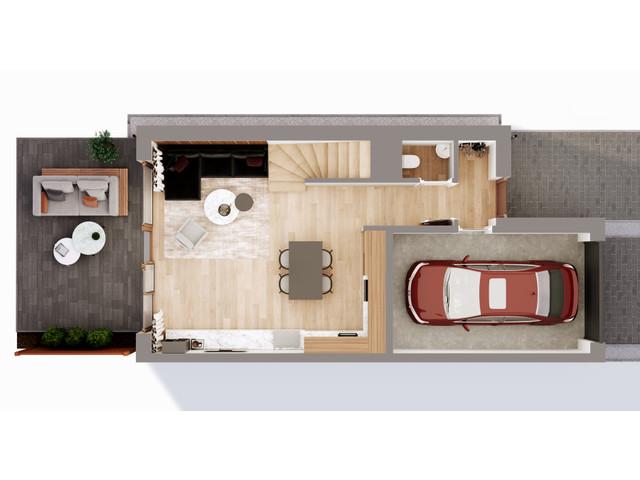 Mieszkanie w inwestycji Chmielowice Apartamenty, budynek Blizniaki, symbol B1-P » nportal.pl