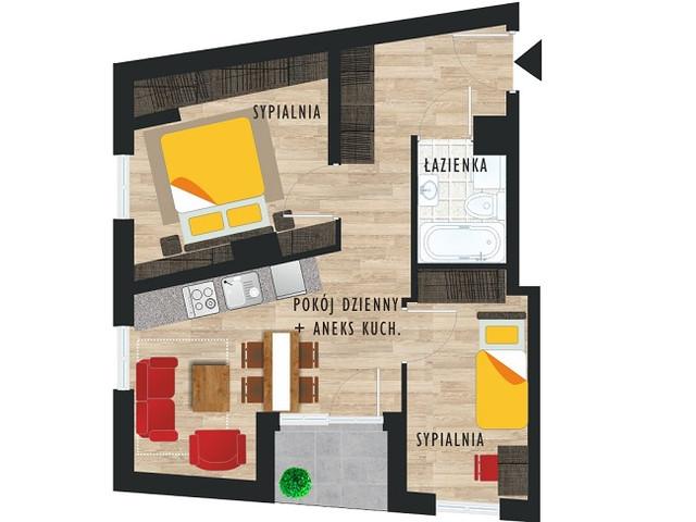 Mieszkanie w inwestycji Apartamenty Mogilska, symbol 44 » nportal.pl