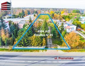 Działka na sprzedaż, Poznański Mosina Czapury Poznańska, 680 000 zł, 4994 m2, 225