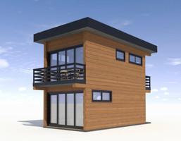 Dom w inwestycji Satori House (mazowieckie), budynek Opcja Standard z płytą fundamentową, symbol S05P08
